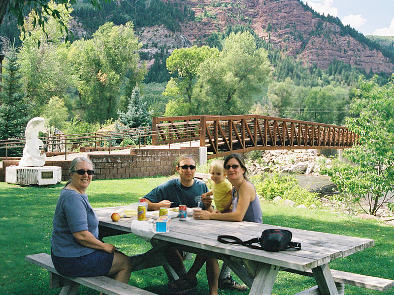 Lunch along the Crystal River in Redstone, CO.