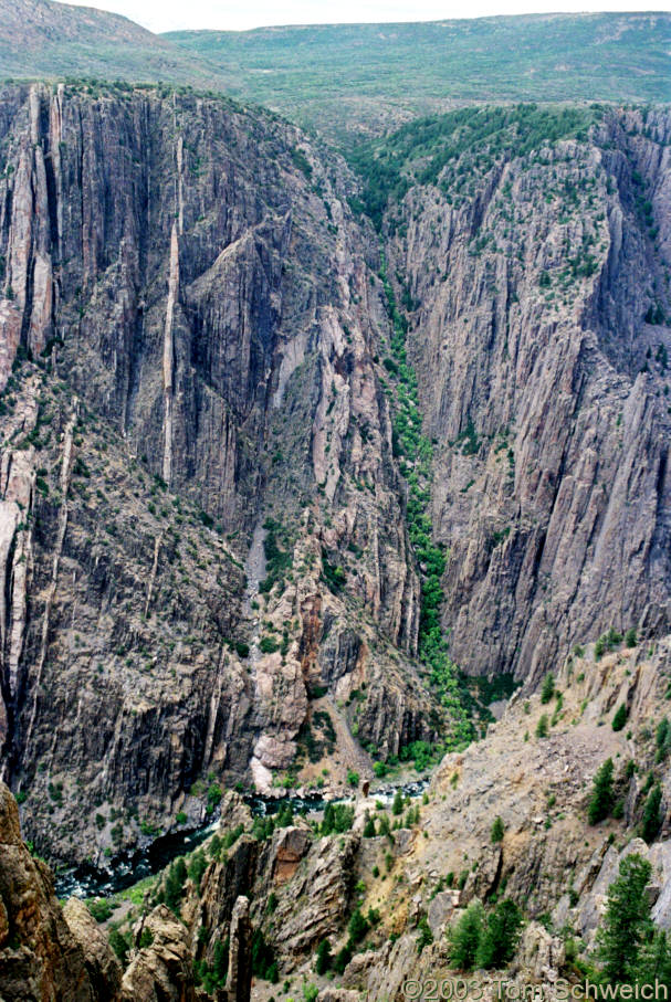 Looking into Black Canyon of the Gunnison.